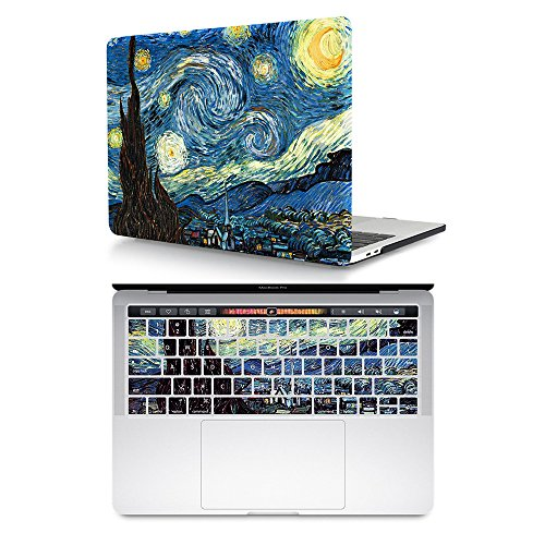 HRH 2 in 1 Starry Night Laptop Body Shell Hard Case Cover an