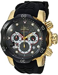 Invicta Mens Disney Limited Edition Quartz Metal and Silicone Casual Watch, Color:Black (Model: 23165)