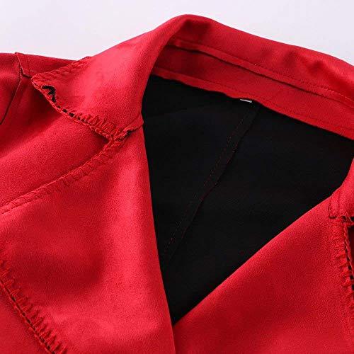 Donna Eleganti Lunga Abbigliamento Fashion Autunno Primaverile Colore Vintage Camoscio Outdoor Rot Giacca Casuali Cappotto Baggy Outerwear Giubbino Targogo Bavero Puro Manica Xwq50