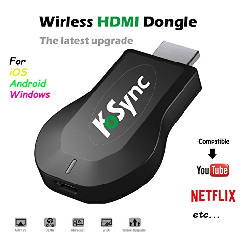 KOSYNC Wireless HDMI Dongle Wifi Display Dongle 1080P Airplay Dongle Digital AV to HDMI Connector for IOS/Android/Windows/MAC OSX Support DLNA/Airplay Mirror/Miracast/Chrome App Cast by KOSYNC (Image #1)