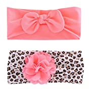 Child of Mine by Carter's Newborn Baby Girls 2 Pack Chiffon Plume Headwraps