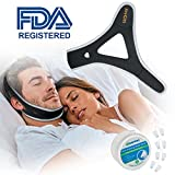 Anti Snoring Chin Strap, Snoring Solution and Anti Snoring Devices, Snoring Chin Strap for Sleep, Adjustable Snore Chin Strap for Sleeping, Stop Snoring Devices Sleep AIDS for Men Women Kids