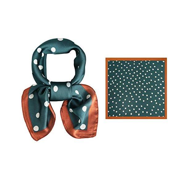 "SOJOS Vintage Square Polka Dot Scarfs For Women 27"" x 27"" Silk Like Scarf Neckerchief Grace"