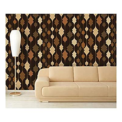Quality Creation, Grand Piece of Art, Large Wall Mural Abstract Seamless Pattern Vinyl Wallpaper Removable Decorating