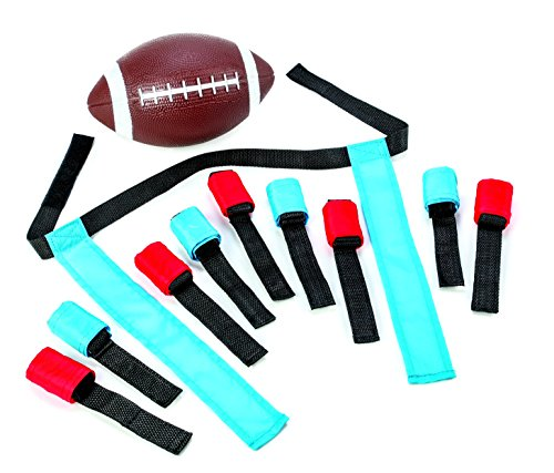 Ideas In Life Mini Flag Football Set – 10 Adjustable Flag Belts – Fun Outdoor Game– Complete Set For Kids Boys Girls by Ideas In Life