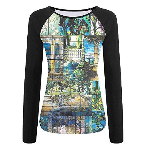 Stained Glass Art Ladies Quickdry Running Raglan Undershirts
