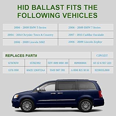 WMPHE HID Xenon Headlight Ballast for BMW, Mercedes, Cadillac, Jaguar, Volkswagen, Lincoln, Chrysler, Saab, Hyundai,Replace OE# 5DV 009 000-00 HID Ballast Headlight Control Unit Module: Automotive