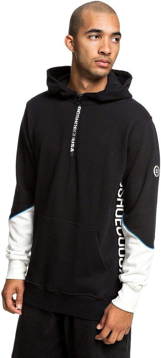 """Men/'s Skate Fleece Hooded Jacket Black DC Shoes /""""Stage Box/"""" Zip Up Hoodie"""