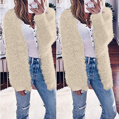 Beige Manches dcontract Cardigan Manteau Tefamore Mode Automne fminine 2018 Longues Hiver xwWw7v1qzY