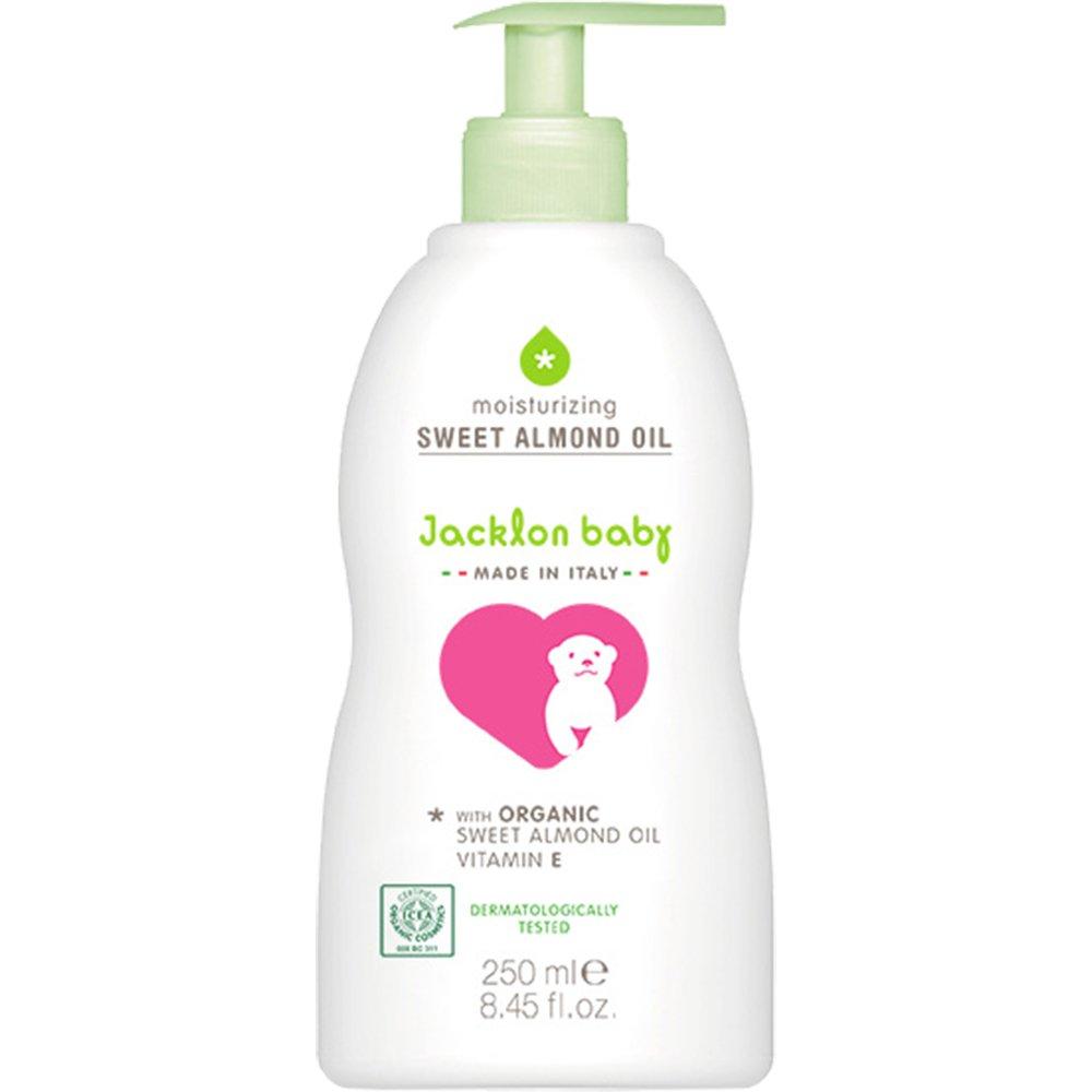 Jacklon Baby Organic Sweet Almond Oil, Skin Moisturizer, Baby Massage with Vitamin E - 8.45oz