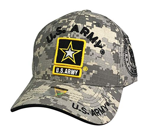 Prfcto Lifestyle US Army Baseball Hat - Licensed Military Baseball Cap for Veterans, Retired, and Active Duty (Digital Camo) ()