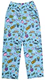 iscream Big Girls Fun Print Silky Soft Plush Pants - Darling Doodles, Small