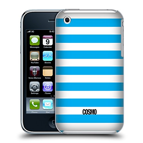 Official Cosmopolitan Sky Blue Stripes Collection Hard Back Case for Apple iPhone 3G / 3GS