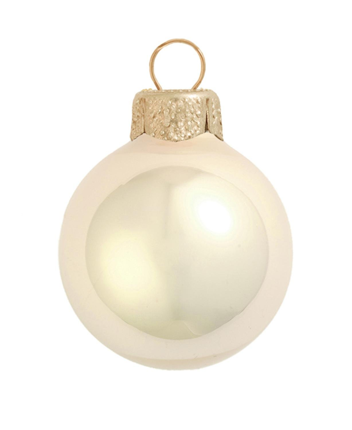 Amazon.com: 40ct Pearl Champagne Gold Glass Ball Christmas ...