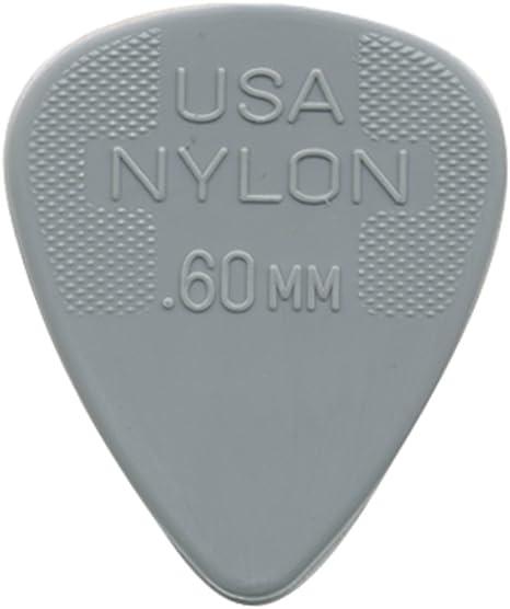 Jim Dunlop Nylon púas 0,60 mm (6 unidades): Amazon.es ...