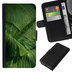 KLONGSHOP // Tirón de la caja Cartera de cuero con ranuras para tarjetas - Col Jardinería Yard Eco Vegetal - LG OPTIMUS L90 //