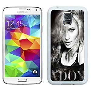 Beautiful And Unique Designed Case For Samsung Galaxy S5 I9600 G900a G900v G900p G900t G900w With Madonna Ciccone Black and White (2) Phone Case