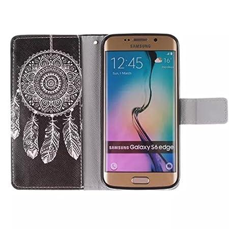 Coque pour Samsung galaxy Note4,Housse en cuir pour galaxy Note 4,Ecoway Colorful imprim/é /étui en cuir PU Cuir Flip Magn/étique Portefeuille Etui Housse de Protection Coque /Étui Case Cover avec Stand Support Avec des Cartes de Cr