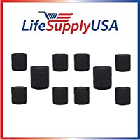 10 Pack Foam Sleeve Filter fits Shop Vac 90585 9058500 Type R 905-85 + most Shop-Vacs by LifeSupplyUSA