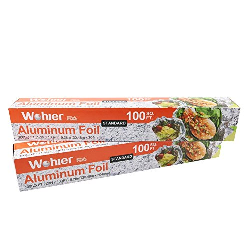 Wohler Aluminum Foil Roll 100 sq ft 2 packs