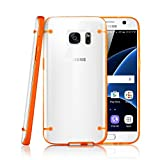 GEARONIC TM Slim Transparent Crystal Clear Hard TPU Cover Luminous Glow in the Dark Case for Samsung Galaxy S7 - Orange