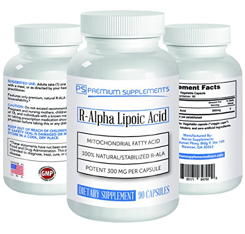 R-Alpha Lipoic Acid 300MG OF PURE R-LIPOIC ACID 90 count. ((((MAX STRENGTH)))) by Premium Supplements (Image #1)