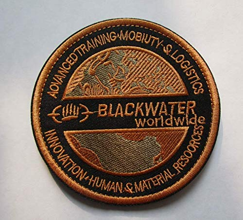 Blackwater Military Patch Fabric Embroidered Badges Patch Tactical Stickers for Clothes with Hook & Loop