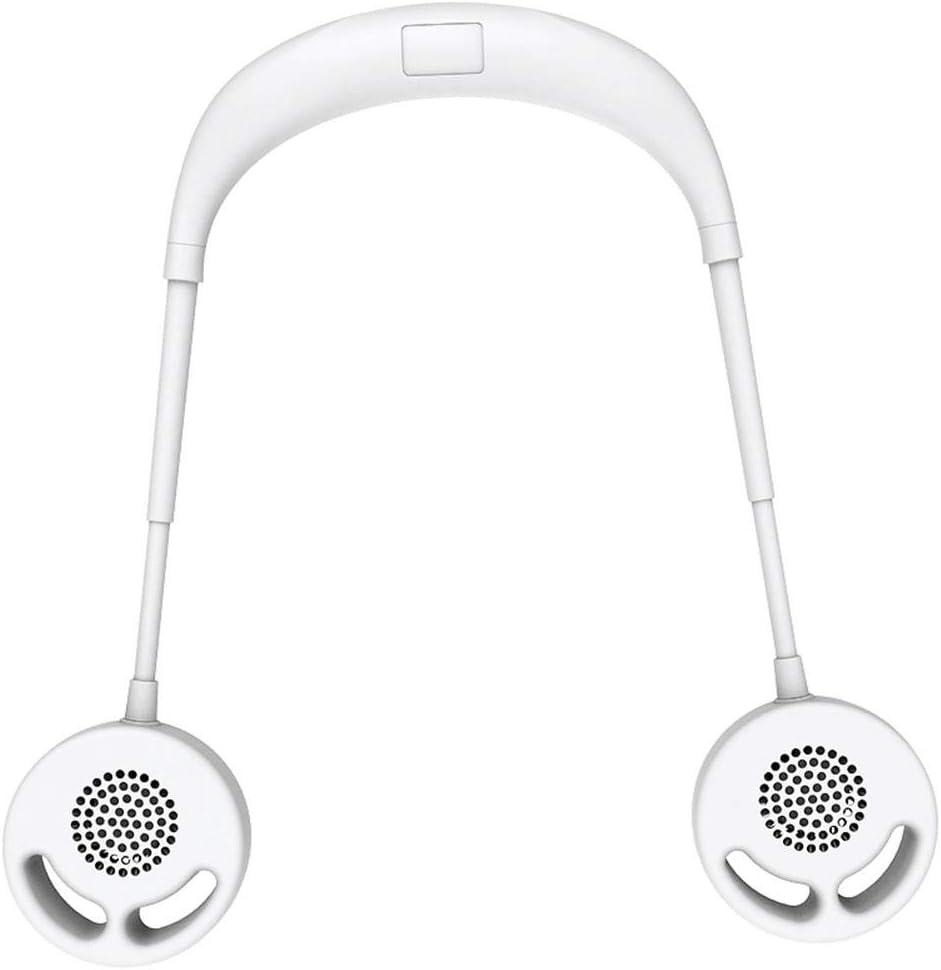 MezoJaoie 2020 Nuevo ventilador portátil con cuello colgante, banda para el cuello manos libres Ventilador deportivo USB portátil ventilador recargable para oficina al aire libre
