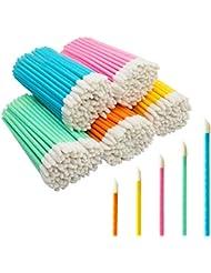 GoWorth 500Pcs/Set Disposable Lip Brushes Make Up Brush Lipstick Lipgloss Wands Applicator Tool Makeup Beauty Tool Kits(COLOR)