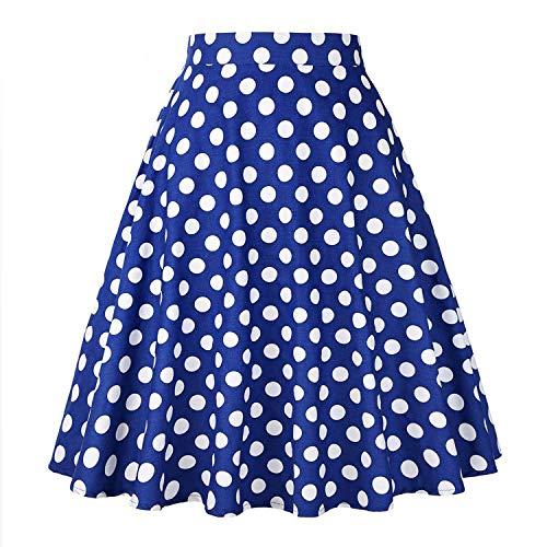 Reveryml Plus Femmes Jupe Jupes White Mujer Taille Midi Patineuse Femme Jupe Jupe Haute Jupes Dot Faldas Vintage Taille 68rE8fqwx