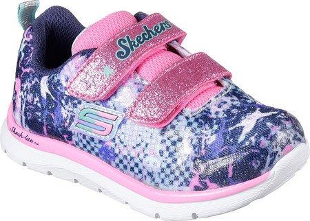 Skechers Skech-lite Mädchen Baby Sportschuhe blau - gemustert
