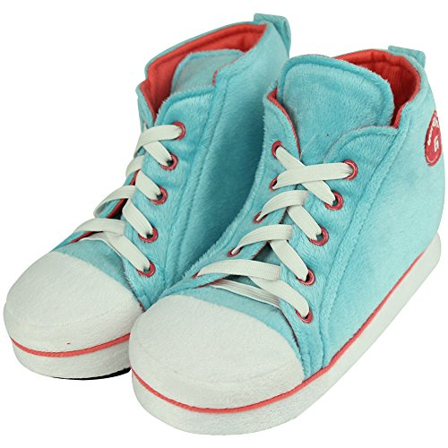 Gohom Women's Christmas Warm Winter Indoor Slipper Boots House Light Blue&Red HkwcpYM95