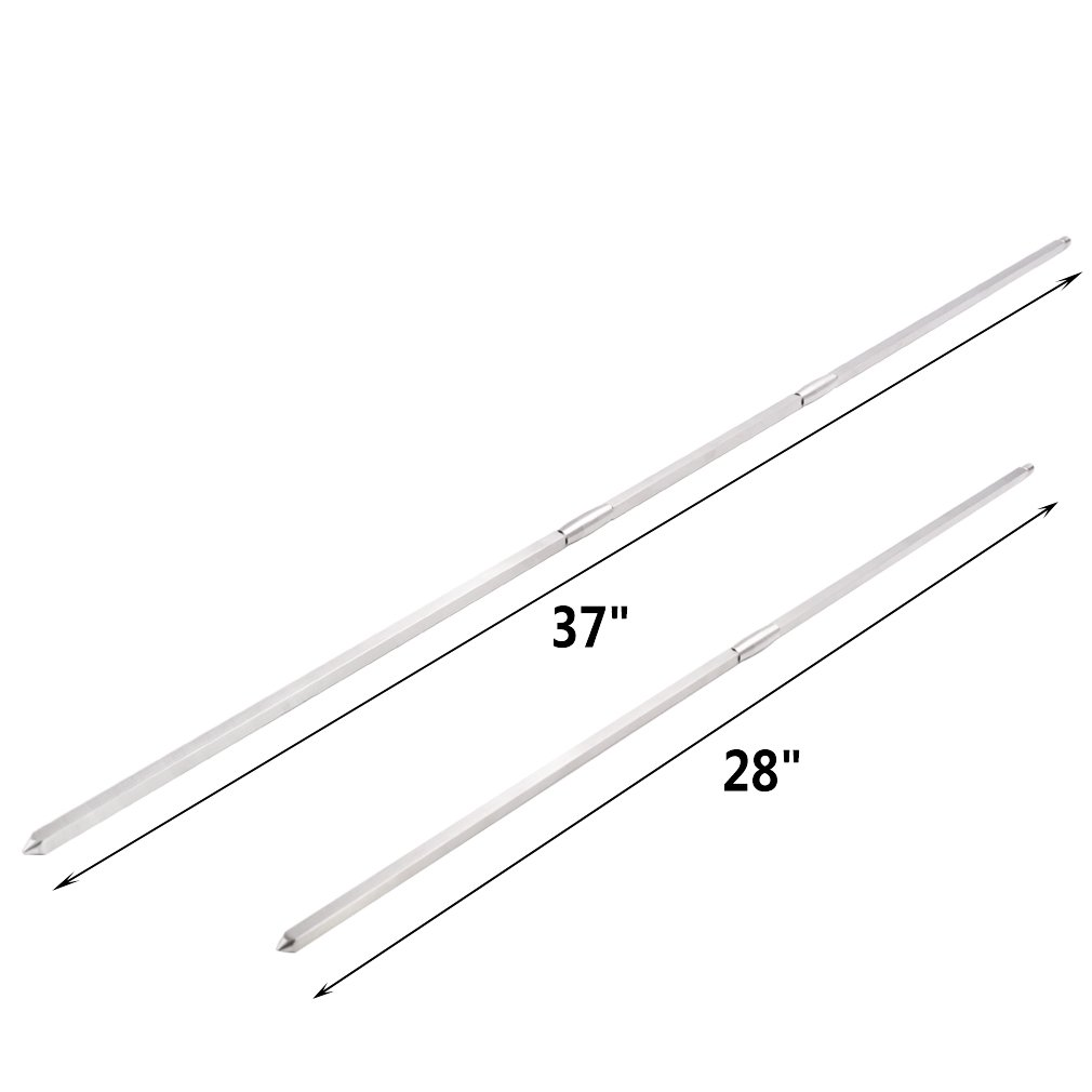 Onlyfire 28-37 x 5 16 Universal Square 304 Stainless Steel Grill Rotisserie Spit Rod