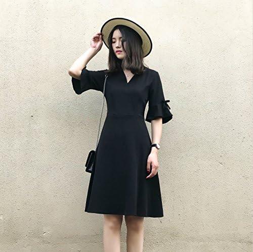 Xuanytp Vestido De Encaje Negro/Vestido/Vestido Largo/Cuello En V ...