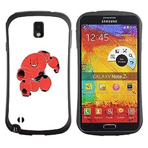 Be-Star Impreso Colorido Diseño Antichoque Caso Del Iface Primera Clase Tpu Carcasa Funda Case Cubierta Par SAMSUNG Galaxy Note 3 III / N9000 / N9005 N9000 N9002 N9005 ( cute red blood monster robot cell )
