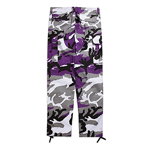 Cargo junkai Pants Viola Pantaloni Camo Baggy Streetwear Tactical PqZxwCwT