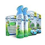 Febreze Air Freshener Bundle, Gain Original (2 Air Effects, 2 Car Vent Clips, 1 Small Spaces Air Freshener Kit)