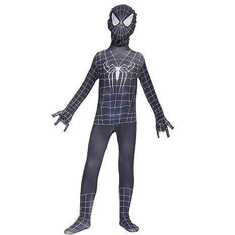 Cosplay Ropa Spiderman Negro Traje De Anime Siamés Guardián ...