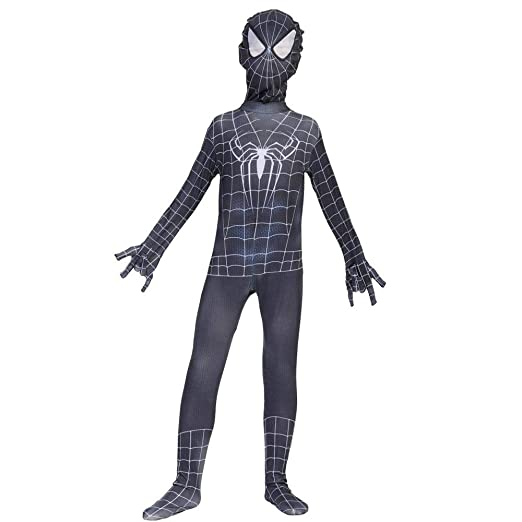 Cosplay Ropa Spiderman Negro Traje De Anime Siamés Guardián Mortal ...