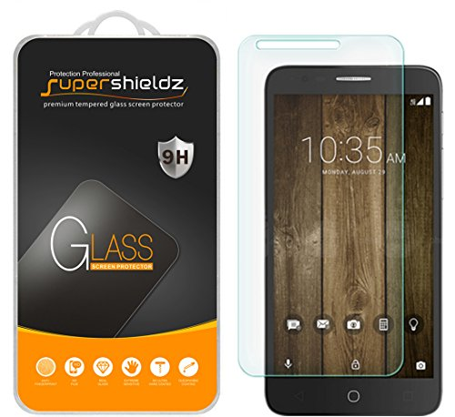 [2-Pack] Supershieldz for Alcatel Fierce 4 / Alcatel Pop 4 Plus Tempered Glass Screen Protector, Anti-Scratch, Anti-Fingerprint, Bubble Free, Lifetime Replacement Warranty