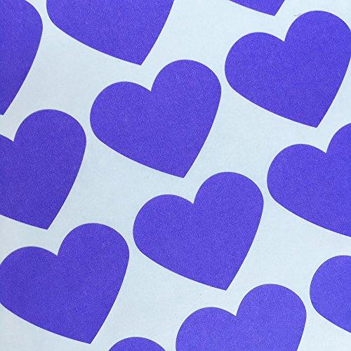Bakers Bling Jumbo Heart Stickers, 30 Purple Heart (Love Heart Tags)