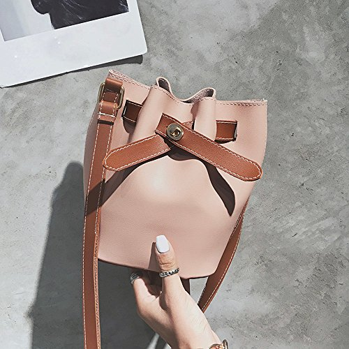Pink Shoulder Pure Bag Leather Bag SOMESUN Bag Handbag Vintage Purse Crossbody Cross Body Women Satchel Color zAqq0Zw