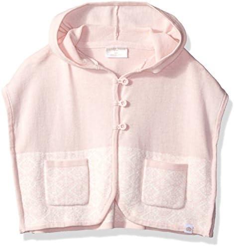 Rosie Pope Little Girls Poncho Sweater, Pink, 18 Months