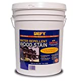 DEFY Original Synthetic VOC Compliant Water Repellent Wood Stain Colorado Gold 5gal
