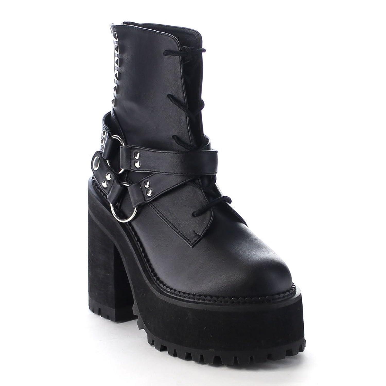 Demonia Women's Assault 101 Vegan Leather Ankle Boots