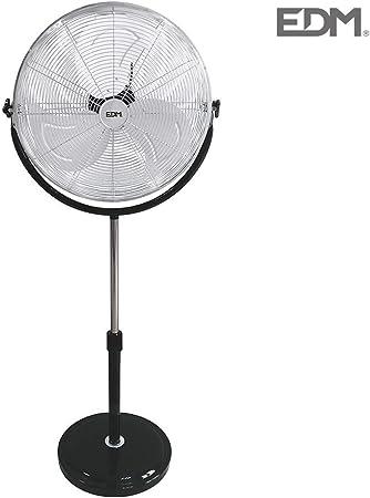 Ventilador de pie 120W 50cm base redonda EDM 33939: Amazon.es: Hogar