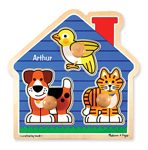 Melissa & Doug Personalized Pets Jumbo Knob Wooden Puzzle (Dropship Personalized Gifts)