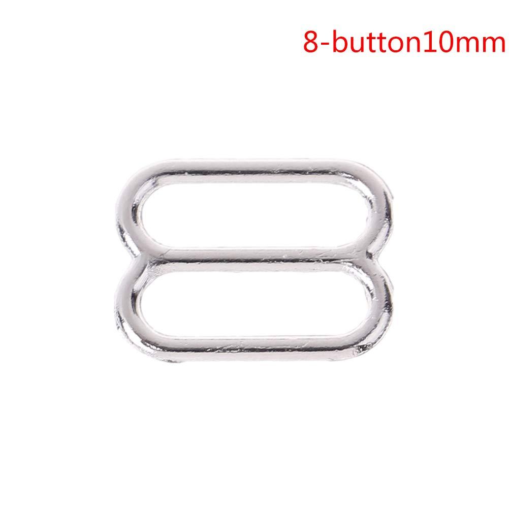 Silver 6mm O-Rings 100 PCS Metal Bra Strap Adjuster Slider Hook Ring for Undergarment Sewing Craft