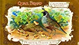 Quail San Francisco Raisin Grape Wine Fruit Crate Label Art Print Vintage Poster