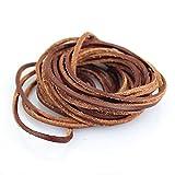 LolliBeads (TM) 3mm Flat Genuine Leather Cord